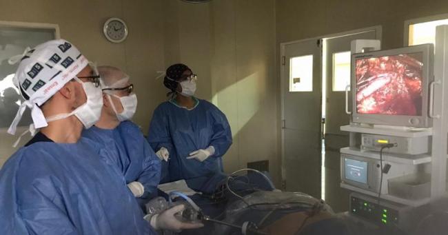 Cirugía inédita en la región patagónica