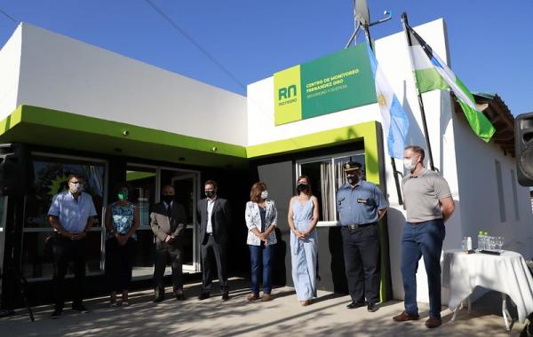 Se inauguró un Centro de Monitoreo en Fernández Oro