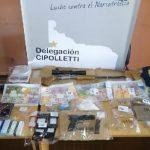 En un importante operativo la Policía de Río Negro secuestró drogas, armas y dinero en efectivo