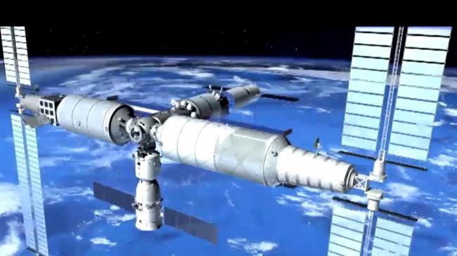 China realizará la primera misión hacia su estación espacial en construcción